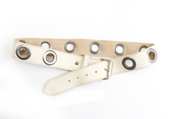 Grommet Belt in Cream