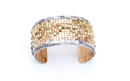 Mikal Winn Medium Gold Mesh Cuff
