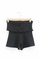 Foldover Short Black