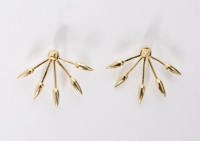 5 Spike Earring Gold