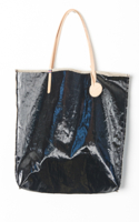 Amie Tote Coated Linen Black