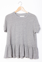 Ruffle Tee Heather Grey