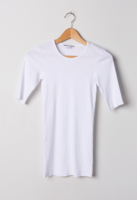 1/4 Sleeve Tee White