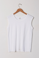 Muscle White Tank