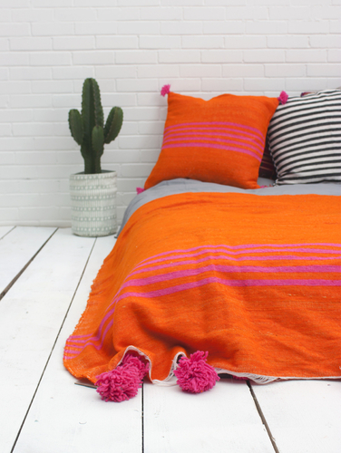 Bohemia Wool Orange Blanket