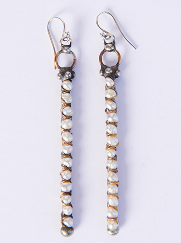 Mikal Winn Pearl Stick Earrings