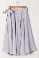 Birds Wrap Skirt Grey