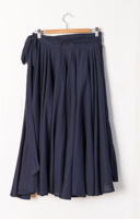 Birds Wrap Skirt Navy
