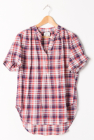 Birds Plaid Henley