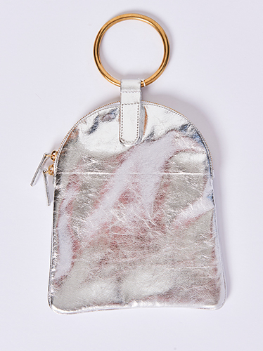 Otaat Myers Large Ring Pouch Silver