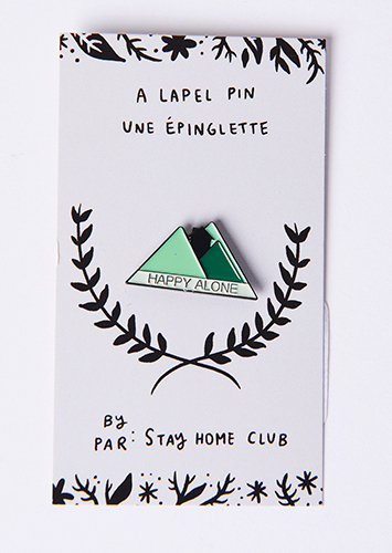 Stay Home Club Happy Alone Pin