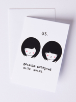 Us girl-girl Card.