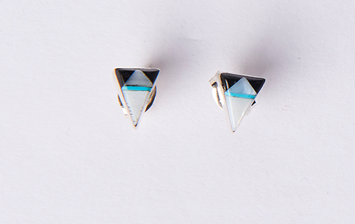 Bow and Arrow Triangle Inlay Posts