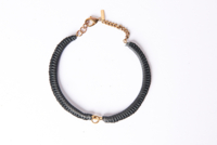 Kllr Leather Macrame Choker