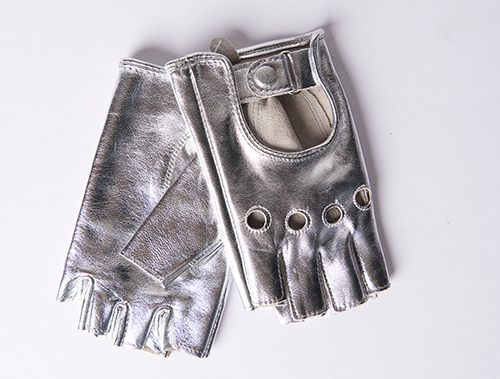 Carolina Amato Silver Driver Gloves