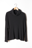 Cowl Turtleneck Black