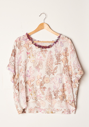 Raquel Allegra Cropped Tee Printed