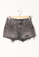 501 Shorts Trashed Black