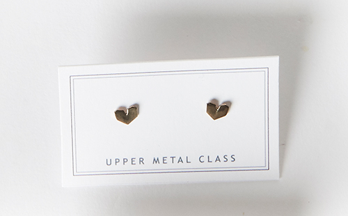 Upper Metal Class I Heart Earrings