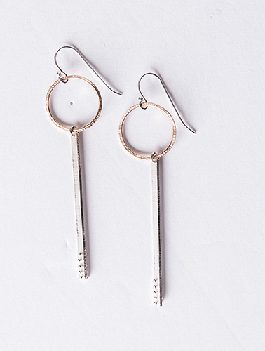 Nikki Nation Textured Ring Earrings