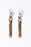 Gold Brass Earrings