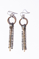 Silver Fringe Ball Chain Earrings