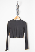 Cropped Crew Long Sleeve