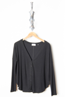 Relax Front Cardigan Blk
