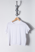 Crop Tee True White