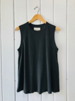 sleeveless Washed Black