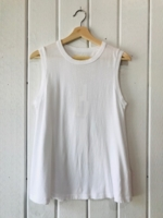Sleeveless Crew White