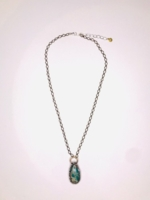 Azurite Drop Necklace