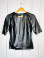 Vegan Leather Top