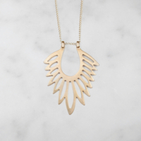 Flor Brass Necklace